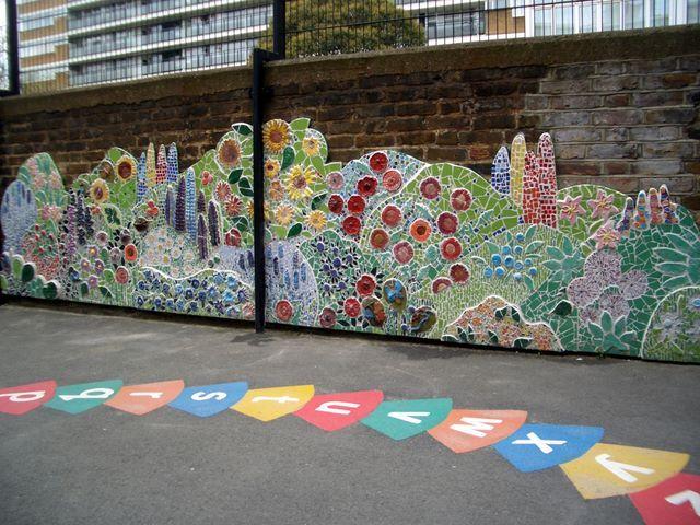 Children's playground mosaic project