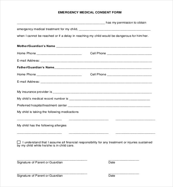 The 25+ best Medical consent form children ideas on Pinterest - emergency contact forms