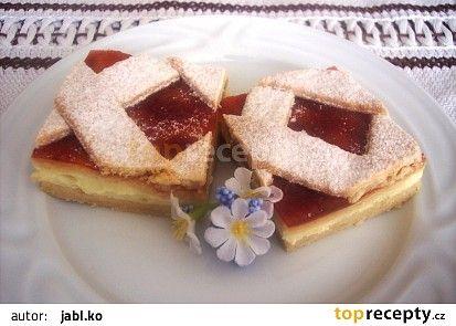 Mřížkový koláč s tvarohem recept - TopRecepty.cz