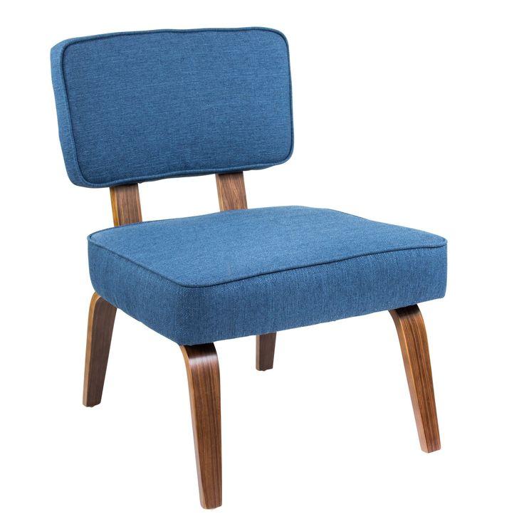 Best Nunzio Chair Navy Blue Mid Century Modern Accent Chairs 400 x 300