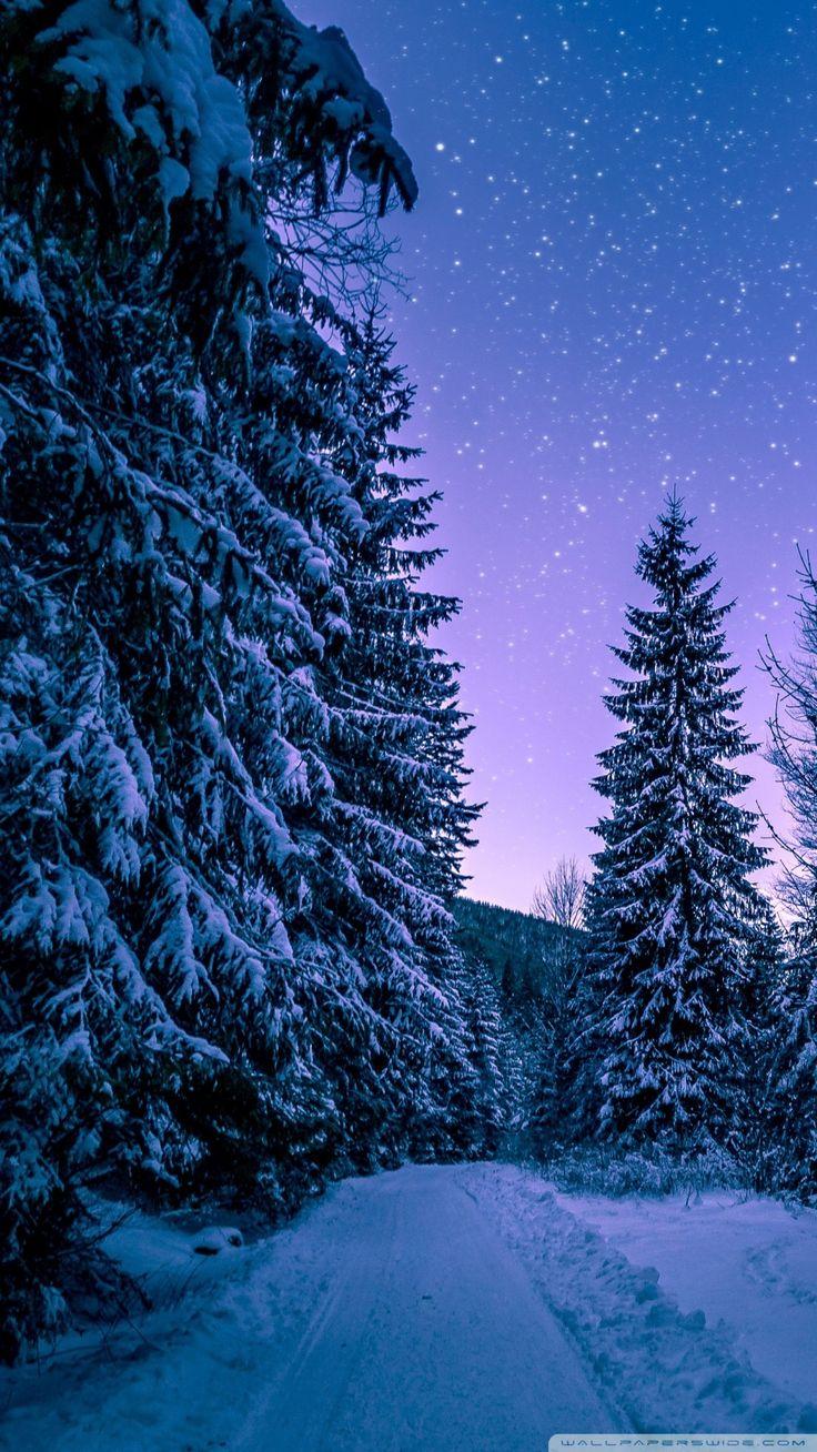 Night Snow Hd Wallpaper Android night snow hd