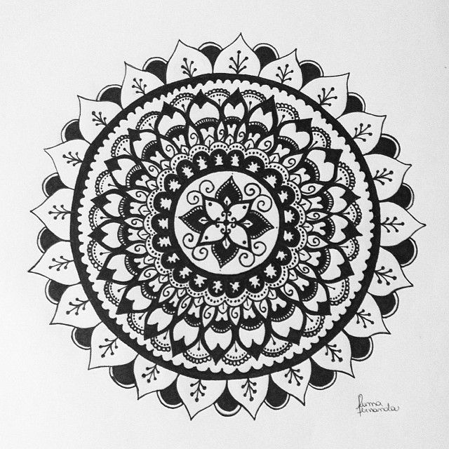 25 Best Ideas About Easy Mandala Designs On Pinterest