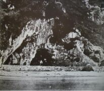 The grotto at the time of the apparitions
