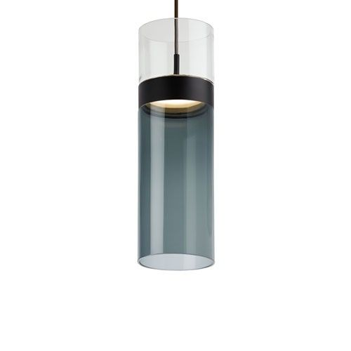 Clear/Transparent Smoke / Black Manette Grande Pendant Light. LED!