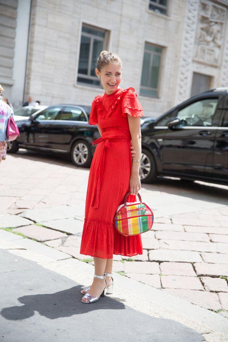 Red dress size 6 petite randy