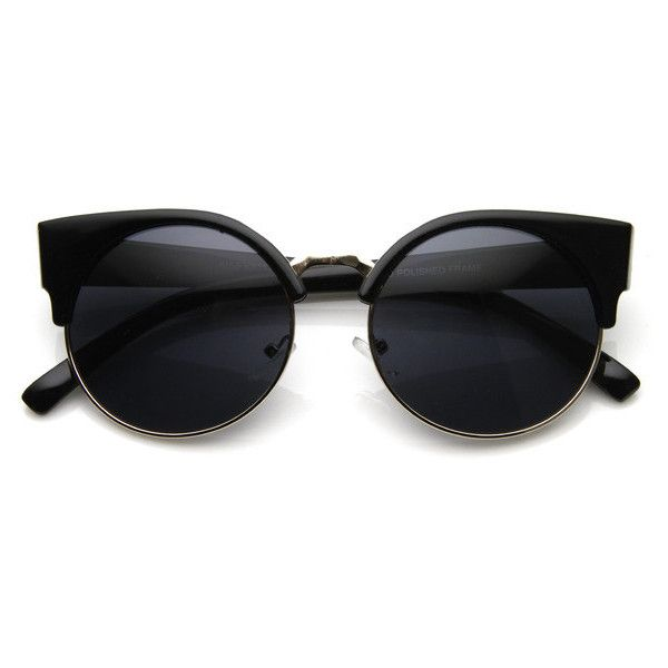 Vintage Inspired Round Circle Cat Eye Sunglasses 8785 ($9.99) ❤ liked on Polyvore
