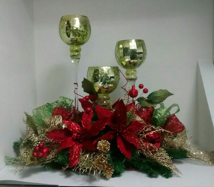 M s de 25 ideas fant sticas sobre centros de mesa de - Adornos de mesa navidenos ...