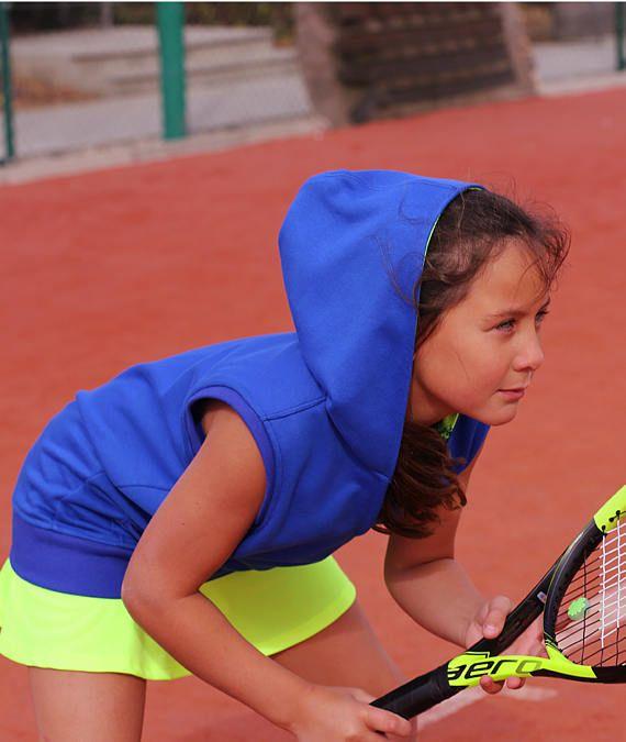 Girls Blue Tennis Hoodie  Girls Tennis Clothes  Junior