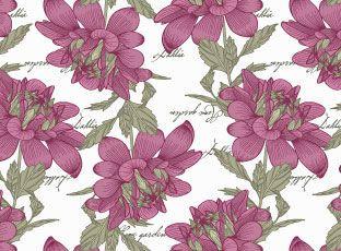 Pattern Purple Dahlia