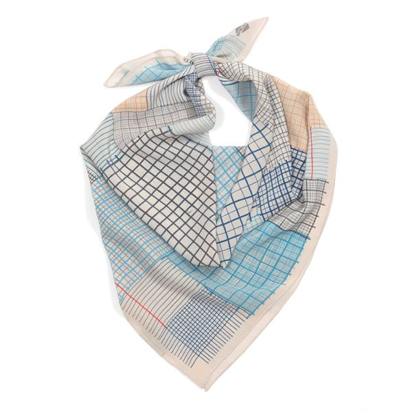 "SuTurno ""Notas blue"" silk scarf / http://shop.suturno.net/product/notas-blue-scarf"