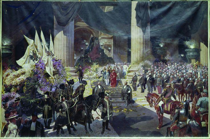 Les Funérailles de Sadi Carnot (1837-1894) au Panthéon en 1894, Georges Bertrand, 1903. Huile sur toile, Château de Versailles © Château de Versailles (dist. RMN GP) / Christophe Fouin