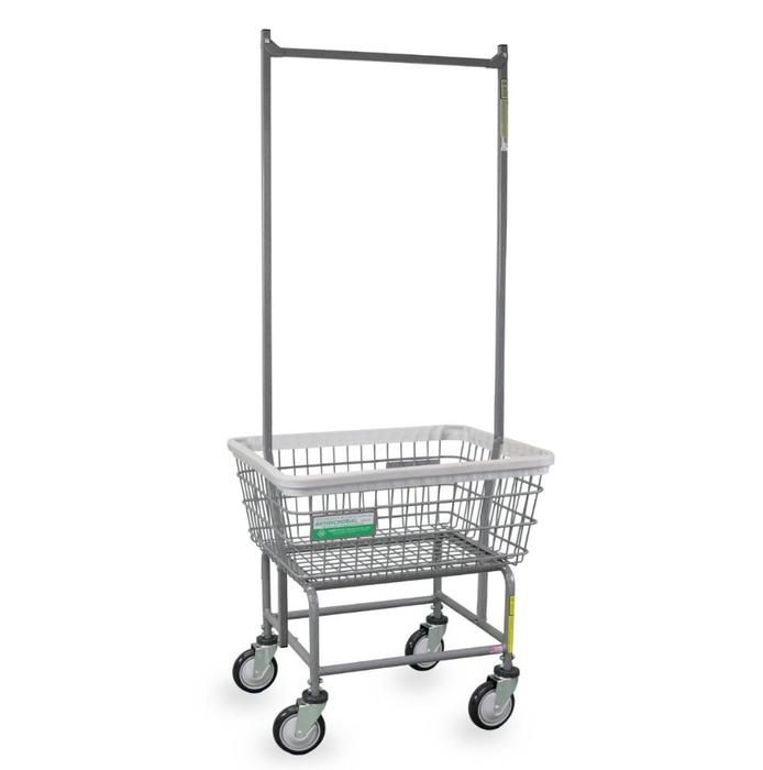 Antimicrobial Laundry Cart W Double Pole Rack Laundry Cart