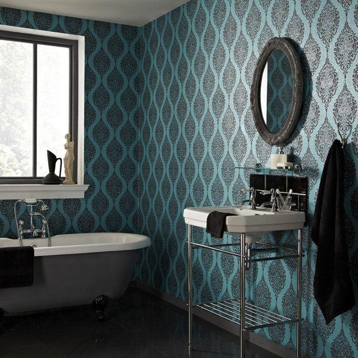 luna turquoise embossed wallpaperdamask wallpapermodern wallpaperwallpaper ideasturquoise wallpaperkitchen wallpaperdesigner. beautiful ideas. Home Design Ideas
