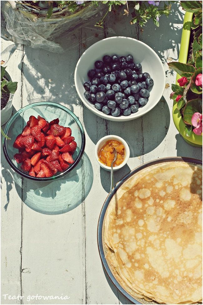 French crepes with seasonal fruits.
