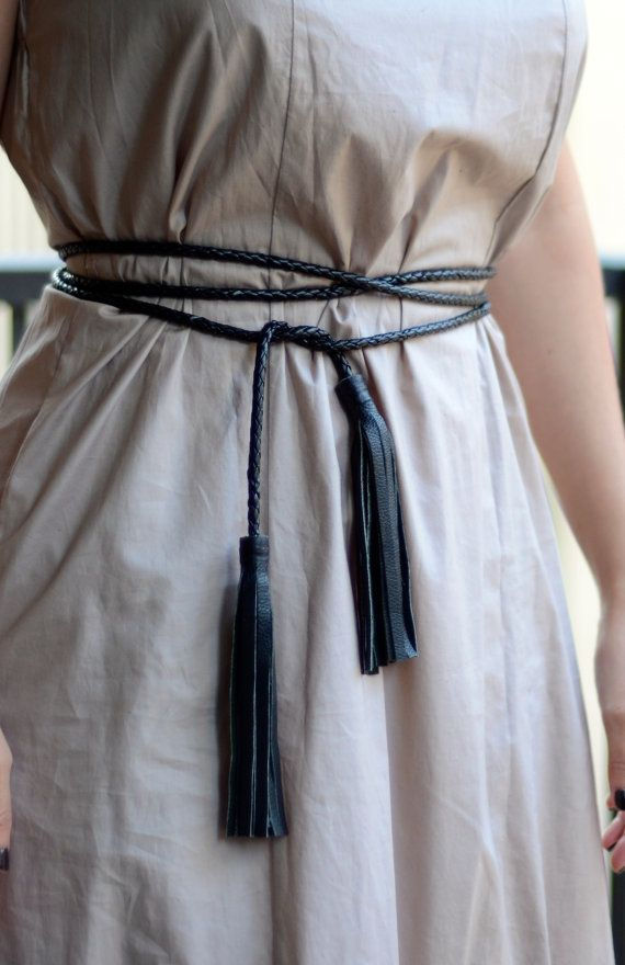 Cintura in vera pelle nappa Wrap cintura di di LeatherGoodsByReka