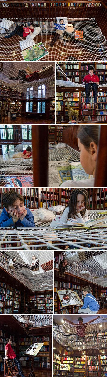 With this fun design, no longer will parents have to distinguish between play time and reading time. The Reading Net, by creative studio Playoffice, is a lively design that encourages learning through playing. The Madrid-based studio transformed the idea of a formal library into this interactive net that can be installed in the home. The unique space provides a happy solution for both parents and kids alike.