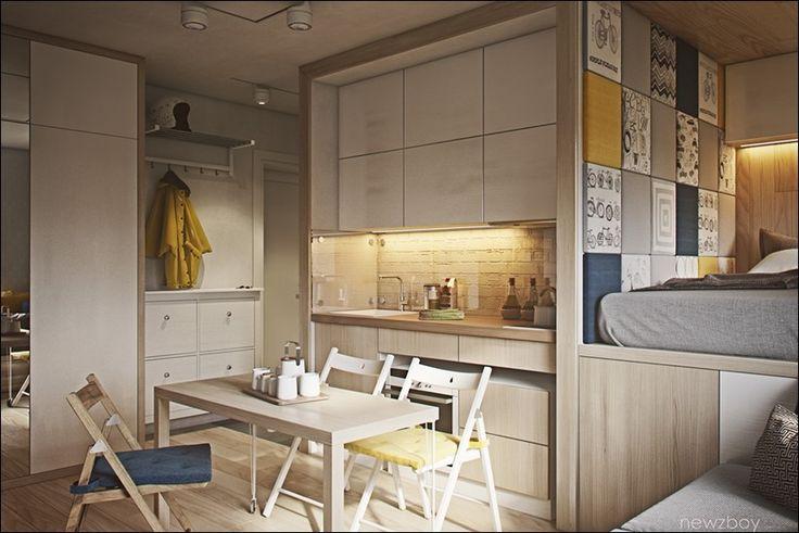 Крошечные квартиры площадью не более 40 квадратных метров | Design Zoom