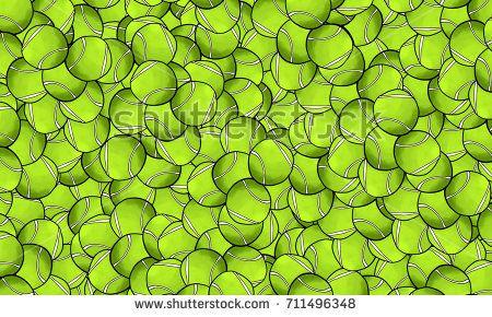 Interesting pattern of tennis balls
