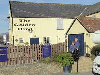 The Golden Hind in Musbury, Devon, Dog friendly Pub with food and a lovely beer garden