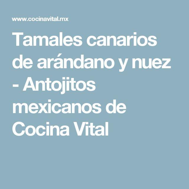 Tamales canarios de arándano y nuez - Antojitos mexicanos de Cocina Vital