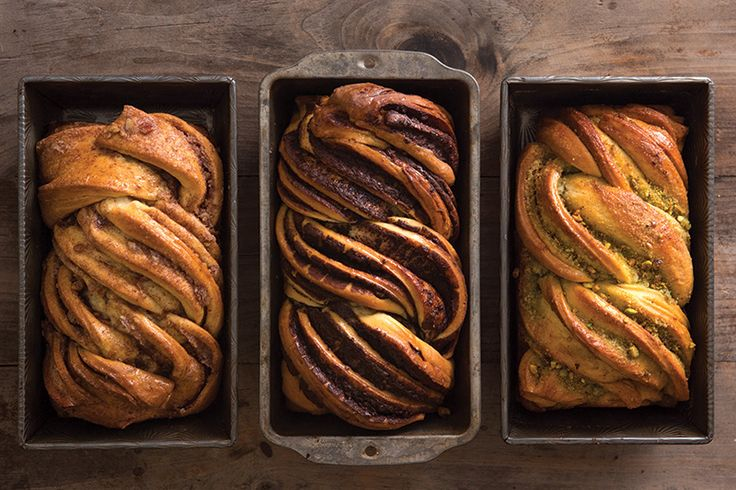 Our take on this traditional twist bread—in chocolate, cinnamon, and pistachio—would make any Jewish grandmother proud. Use this basic babka recipe and add your filling of choice.