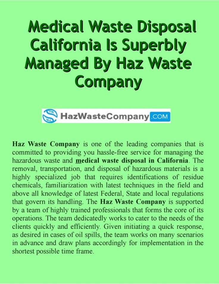 Haz Waste Company is one of the leading companies that is committed to providing you hassle-free service for managing the hazardous waste and medical waste disposal in California.