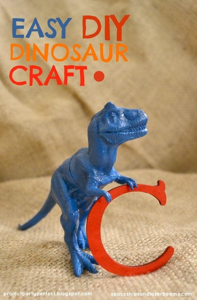 Easy Dinosaur Craft Ideas for Birthday Party www.spaceshipsandlaserbeams.com