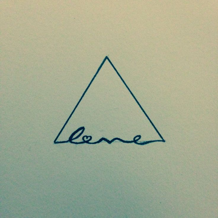 Triangle Symbol means positive change but if you place love at the end then love is a strong foundation to move forward.