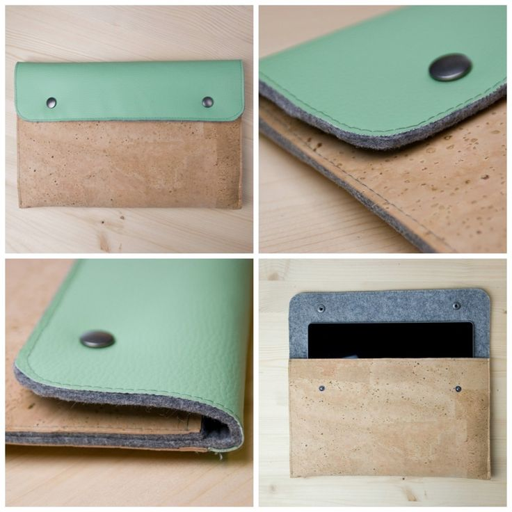 Nähen mit Kork, Tablet-Tasche aus Kork: Kork DIY