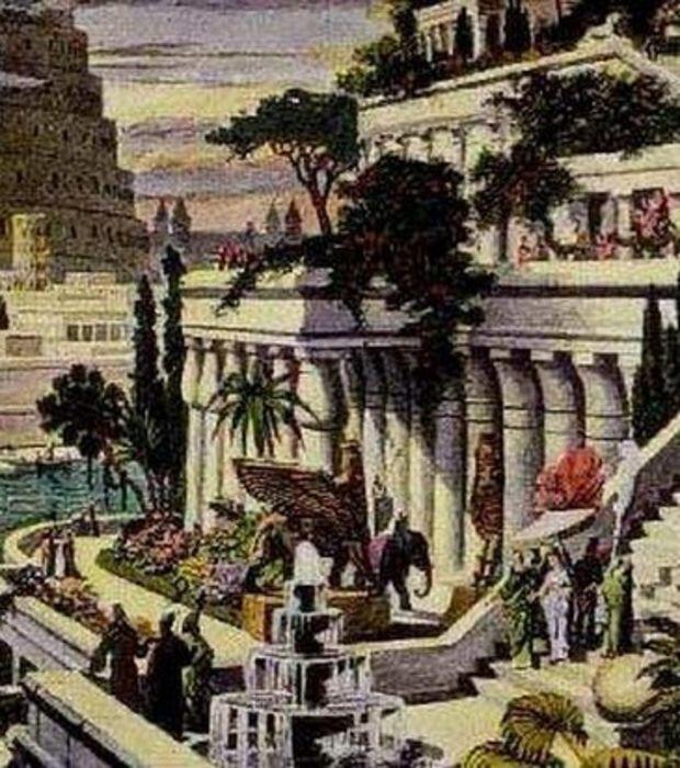 Les Jardins Suspendus de Babylone, l'une des 7 merveilles du monde antique