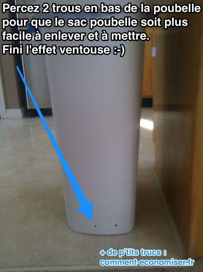 Comment éviter que le sac poubelle reste coiné