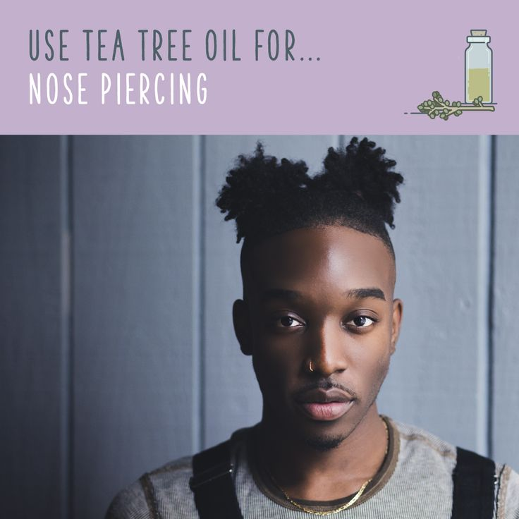 Tea Tree Oil For Nose Piercing  Apply tea tree oil to a recently pierced nose to…