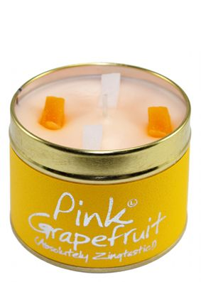 Lily Flame Pink Grapefruit Tin Candle