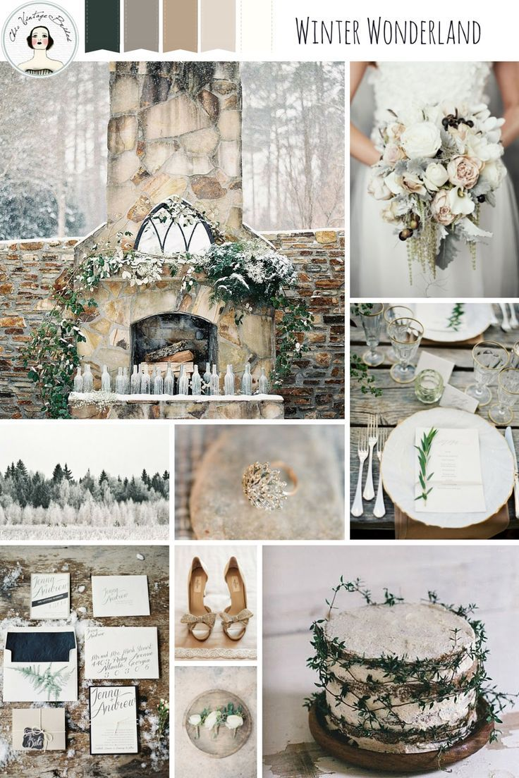 Winter Wonderland – Snow Dusted Winter Wedding Inspiration in a Palette of Neutrals