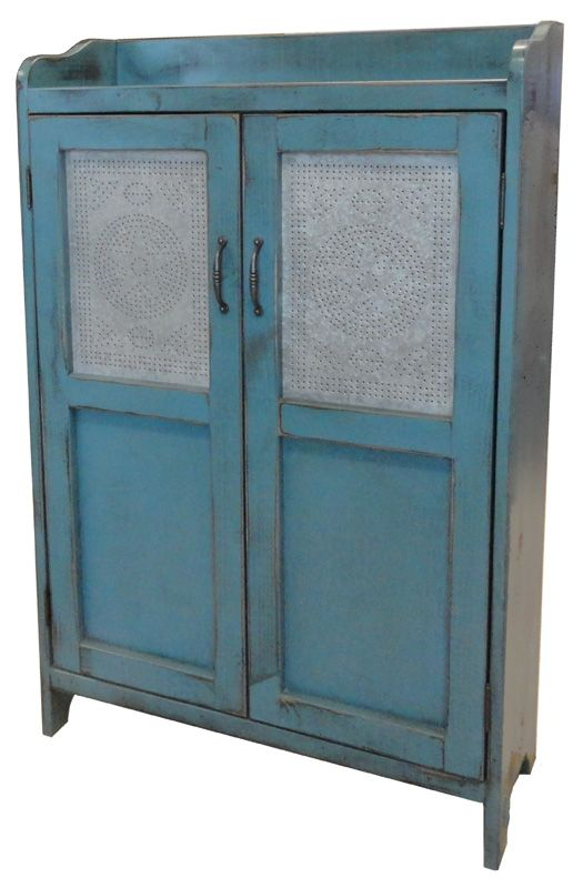 #357 Punched Tin Cabinet.  Cute and functional!