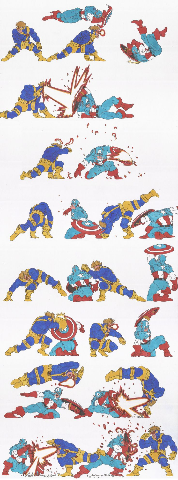 marvel_doodles_02_Cap Vs Cyclops_oct2013 by AlexBaxtheDarkSide