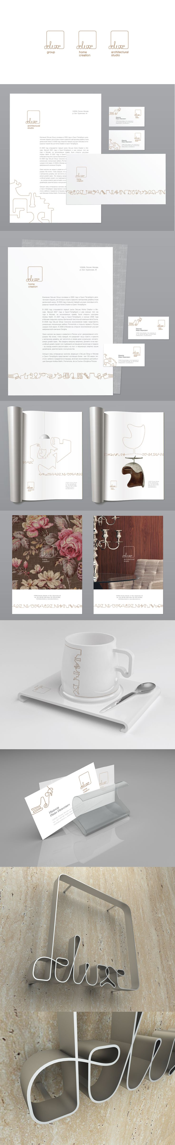 Фирменный стиль для компании Deluxe., Identity © AntonZhdanov