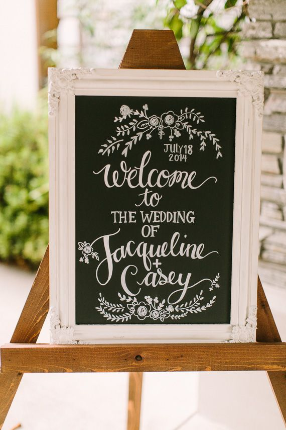 Intimate woodland Berkeley California wedding | Photo by Danielle Poff Photography | Read more - http://www.100layercake.com/blog/?p=79651 #chalkboard #wedding #signage