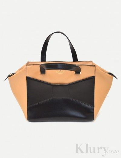 hermes orange wallet - Pre-owned Kate Spade Beau Bow Tan and Black Purse $325 | Carry On ...