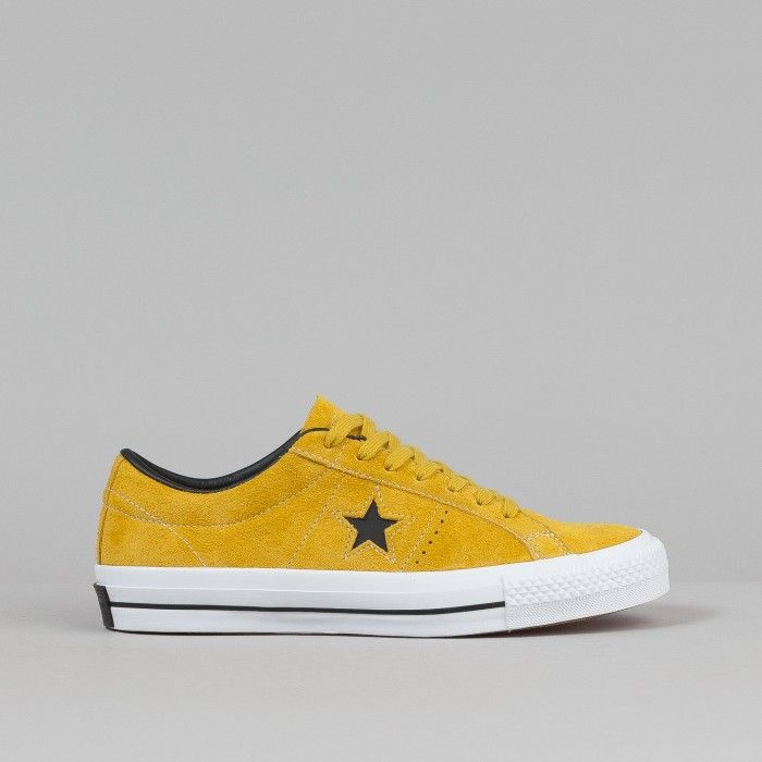 Converse One Star Pro Ox QS Shoes - Yellow Bird / Black / White | Flatspot - Shoe perfection.