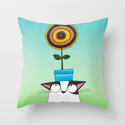 """From shop.ddpvk.com  Throw Pillow Cover made from 100% spun polyester poplin fabric, a stylish statement that will liven up any room. Individually cut and sewn by hand, the pillow cover measures 16"""" x 16"""", features a double-sided print and is finished with a concealed zipper for ease of care."""