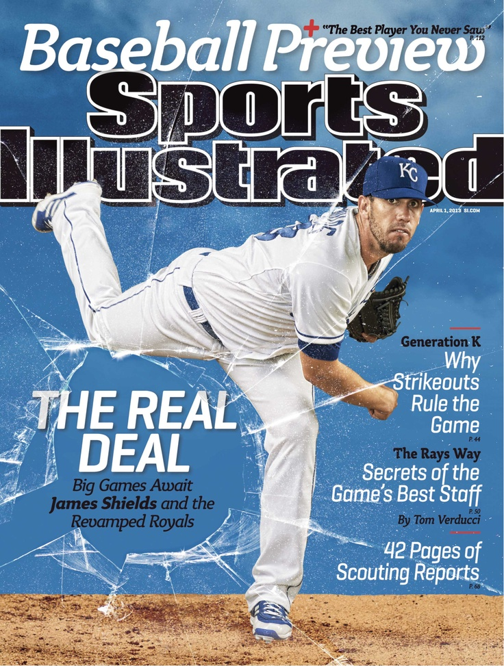 Royals RHP James Shields is featured on 1 of 6 regional covers of Sports Illustrated this week. Congrats to Big Game James!