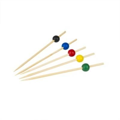 Picture of Bamboo Party Picks Assorted Colours 100pcs