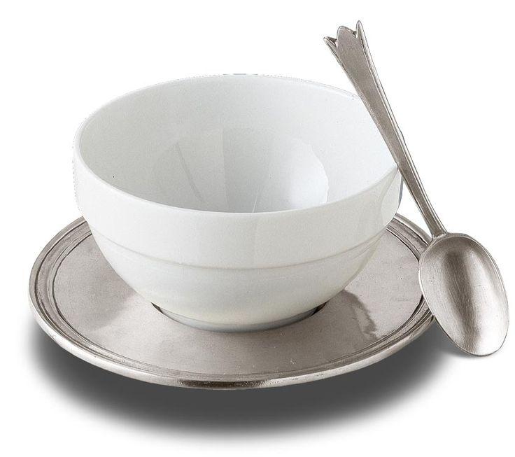 Set colazione cm h 8 x cl 65 (Peltro, Ceramica) - collezione: Etruria. Cosi Tabellini.