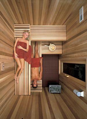 Sauna-Aufteilung / Grundriss