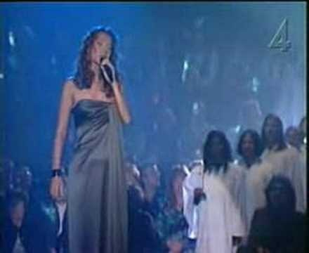 O Holy Night by Celine Dion.  Thanks to Jesus, my soul feels its worth.  Thanks to Celine for singing it so clear and true.