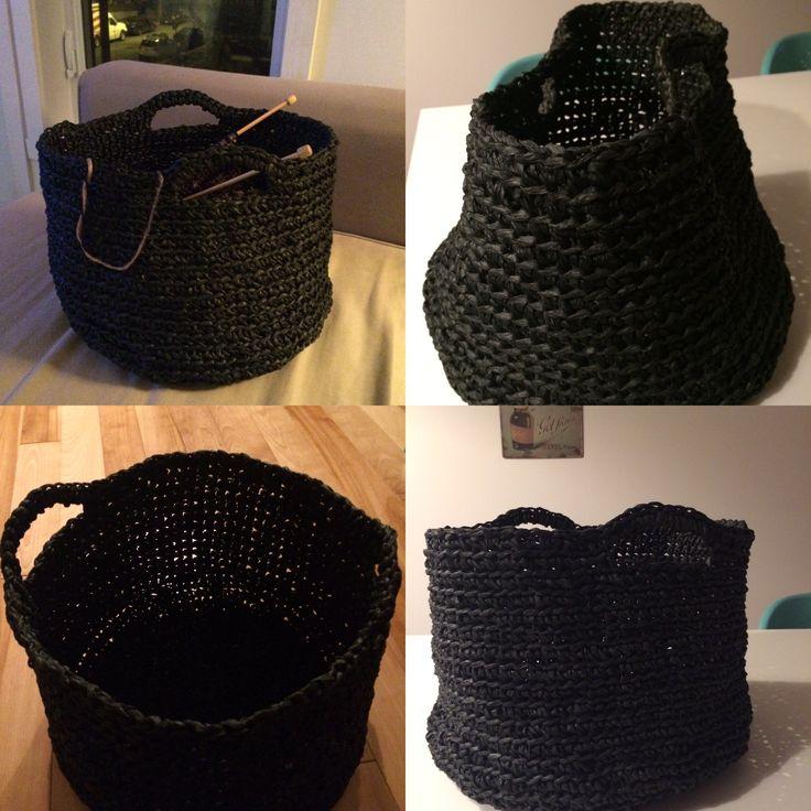 Panière #crochet #cordedepapier