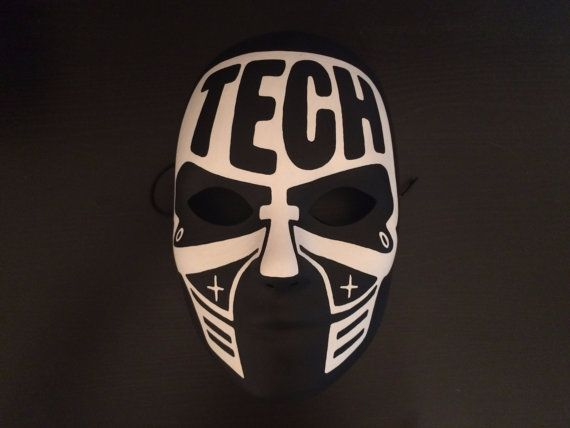 Original Black and White Tech n9ne Face paint Mask by MazeMonster