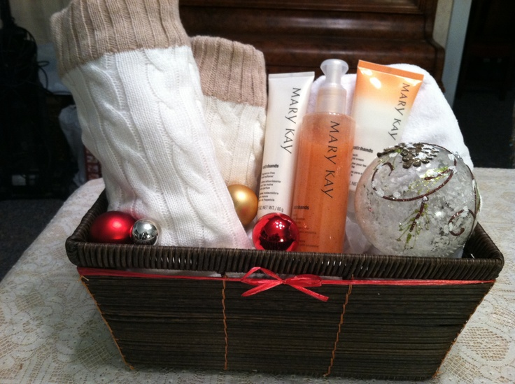 145 best mary kay gift ideas images on pinterest gift ideas mary kay satin hands gift basket with peach satin hands spa booties hot and negle