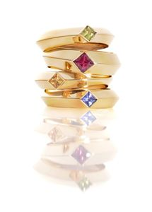 Julia Behrends Designs - Argyll Rings - Photography by Robert Diamante, Inc. © 2012